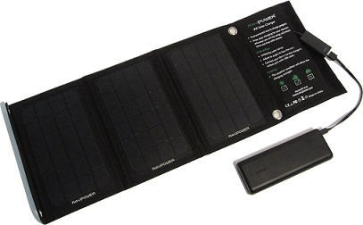Solar Ladegerät lädt Powerbank